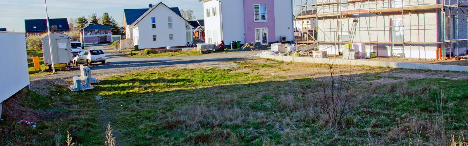 Grundstück März 2014 von Süden aus fotografiert