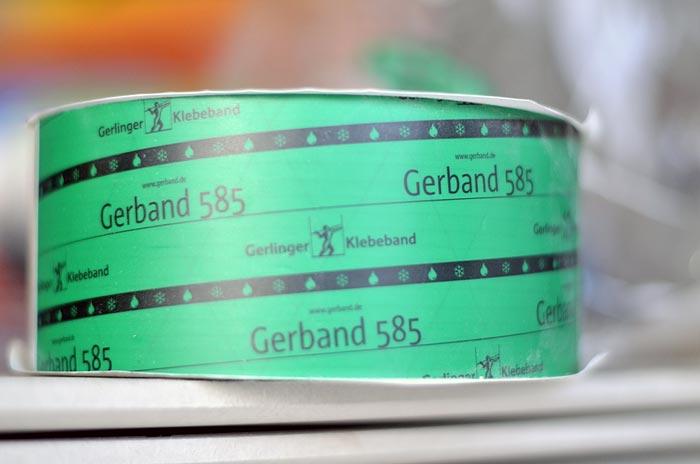 Gerband 585 - Klebeband zum luftdichten Verkleben