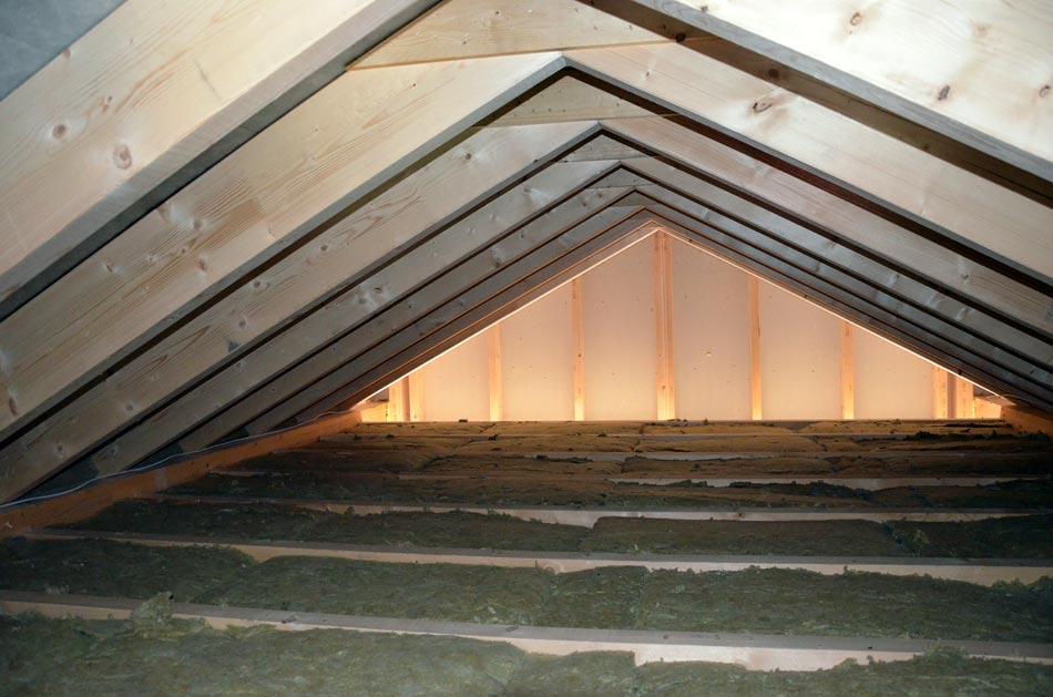 Dachboden gedämmt von oben
