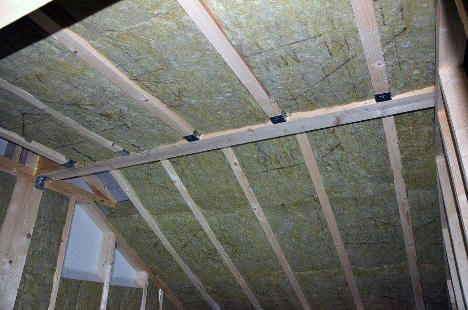 Dämmung Dachschräge vorm Schließen der Decke