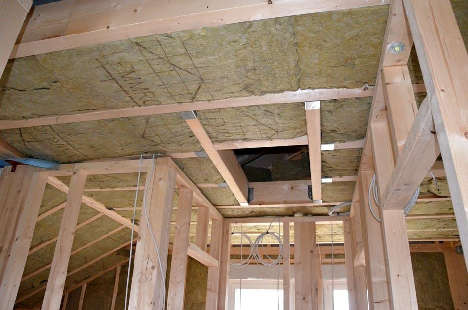 Decke Obergeschoss fertig gedämmt