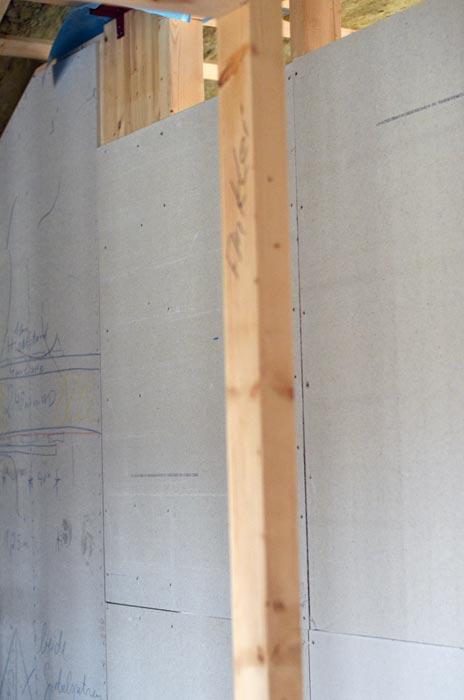 Erste Wand Fermacell-Platten Obergeschoss