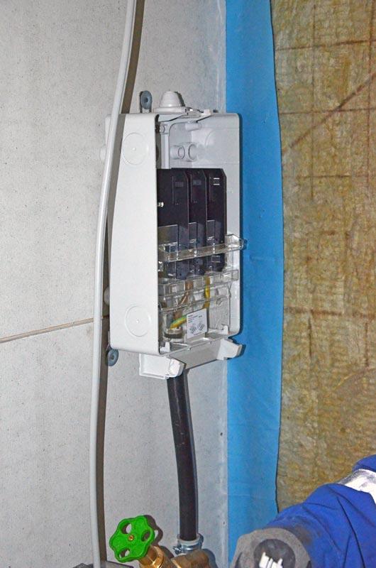 Stromanschluss im HAR