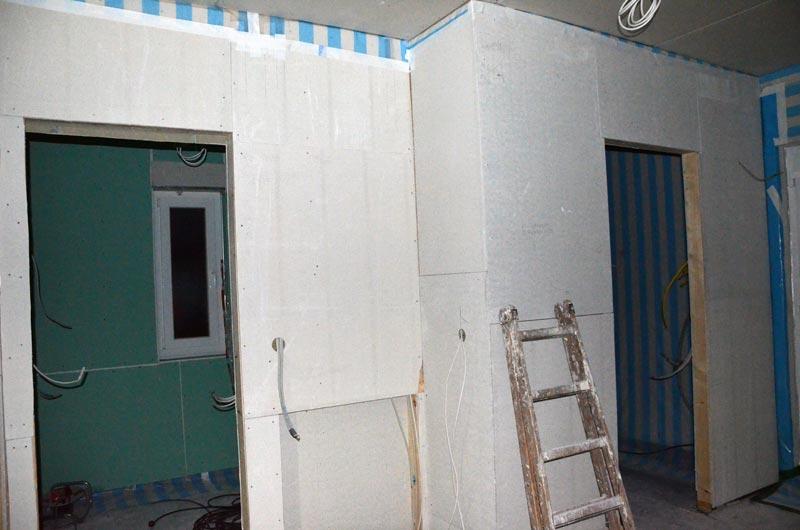 Flur Erdgeschoss mit Fermacellplatten
