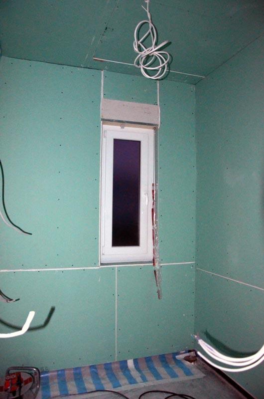 Gäste-Bad mit imprägnierten Rigipsplatten