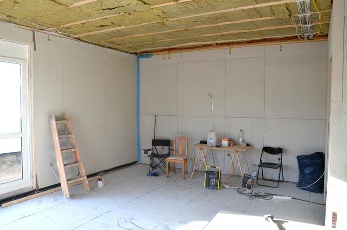 Wohnzimmer mit Fermacellplatten
