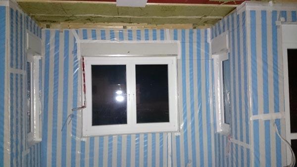 Wohnzimmererker Dampfbremsfolie