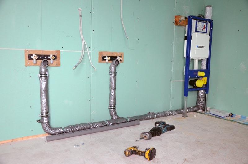Bad-Abflussleitungen-Waschbecken-Spülkasten