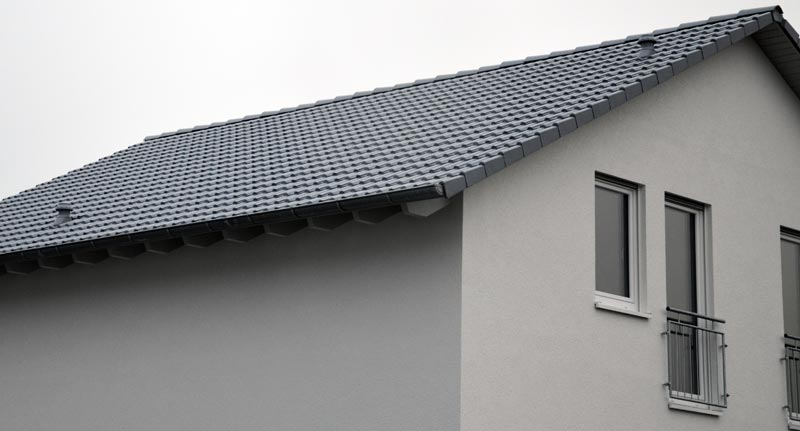 Dach mit Lüftungsauslässen