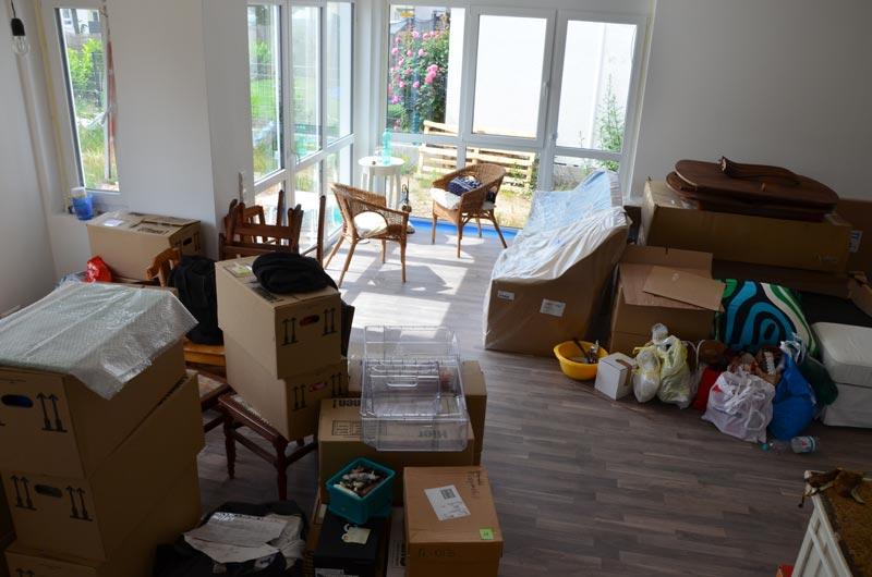 Wohnzimmer nach Hauptumzug