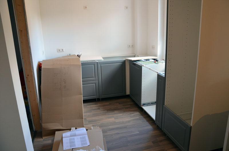 So sah die Küche in der vorletzten Juli-Woche aus