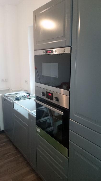Letzte Juli-Woche: Ofen und Mikro gehen endlich in Betrieb
