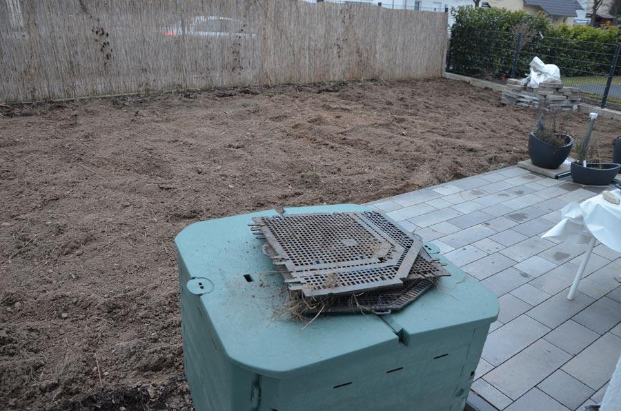 Terrassensicht nach Umgraben