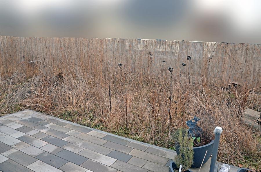 Terrassensicht vorm Umgraben